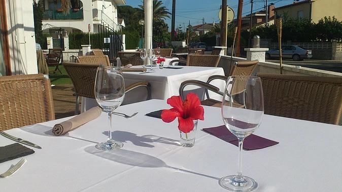 Restaurante la Palmera de la Llosa <br> Parte delantera de la terraza